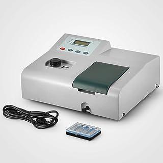 VEVOR Visible Spectrophotometer 721, Wavelength Range 350-1020nm,Spectral Bandwidth 6nm,Spectrophotometer Portable Lab Equipment, 110V Tungsten lamp(Type 721)