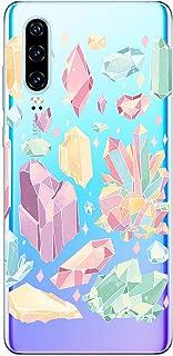 Oihxse Funda Dibujos Diamantes Brillantes Compatible Huawei P20 Lite 2019/Nova 5i Transparente Silicona TPU Bumper Case Ul...