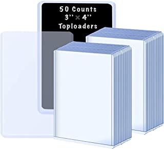 40 Counts Top loaders Card Sleeves for Trading Cards, TopLoader Penny Sleeves Card Protectors Fit for Pokemon Cards, YuGiO...