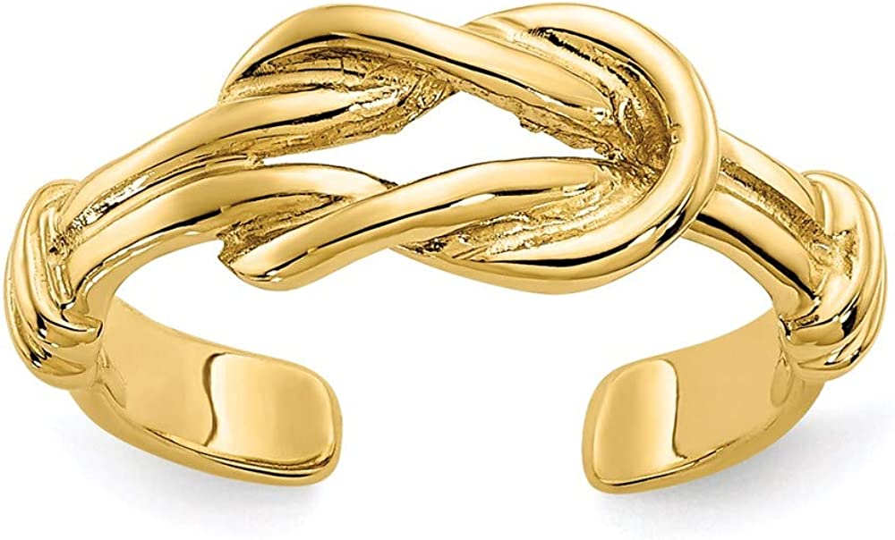 CoutureJewelers 14k Love Knot Toe Ring