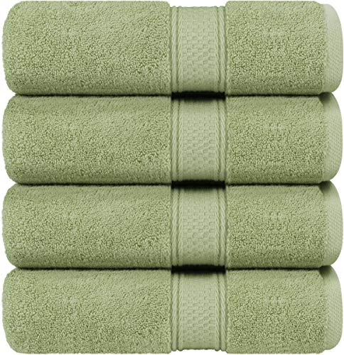 utopia luxury bath towels Utopia Towels - Bath Towels Set, Sage Green - Luxurious 700 GSM 100% Ring Spun Cotton - Quick Dry, Highly Absorbent, Soft Feel Towels, Perfect for Daily Use (4-Pack)