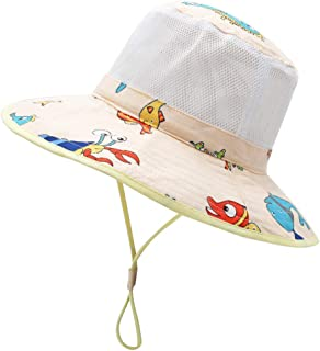 Kids Toddler Baby Summer Bucket Sun Hat Breathable Adjustable Fisherman Hats