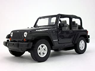 Welly Jeep Wrangler Rubicon 4.25 Inch Diecast Model Toy Car Black