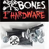 Bones Vato Hardware Phlillips Bolts x8 Black 1 Inch -