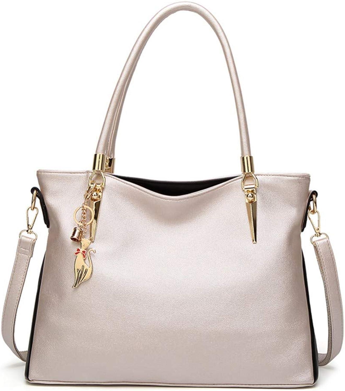 Lidoudou Handtasche Schulter Umhängetasche Damen Mode Mode Mode lässig wild einfache Größe (Höhe 27 cm, Breite 36 cm) Material Rindsleder B07P72MJJP  Modern d28556