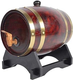 HWhome Tonneaux De Vin en Bois Massif De Ménage,fût De Chêne Whisky Barrel Distributeur De Stockage Votre Bière Spiritueux...