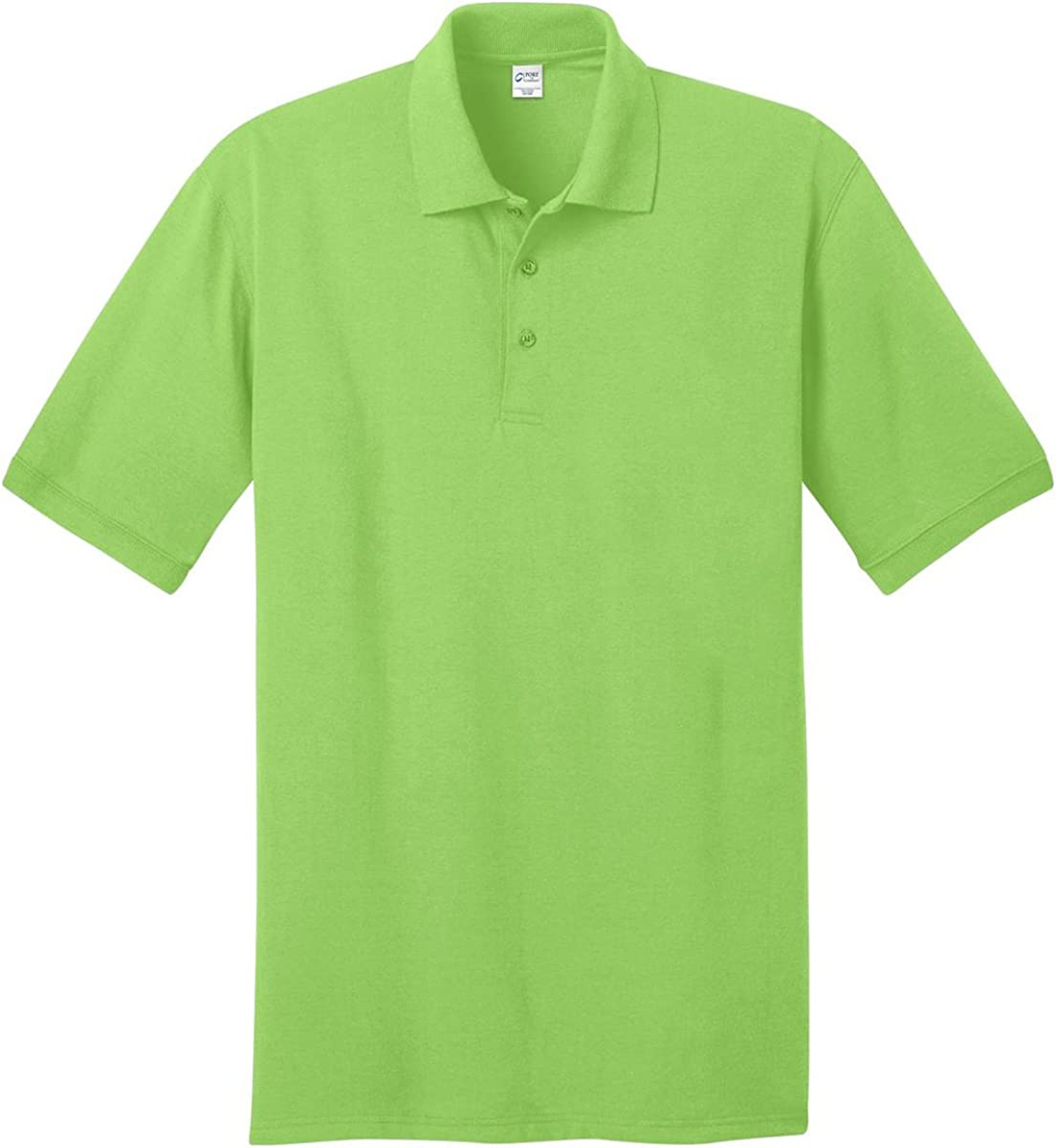 Port & Company Tall 5.5-Ounce Jersey Knit Polo Shirt, Lime, Large Tall
