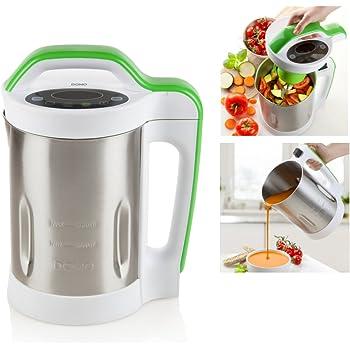 Aigostar Beanbaby 30IMW - 6 funciones en 1. Máquina de leche vegetal, mermeladas, batidos, cremas o sopas. 952 W, 1,7 litros, función mantener caliente. Libre de BPA. Con Recetas descargables.: Amazon.es: Hogar