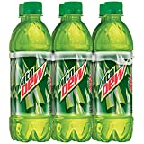 Mountain Dew Regular, 6 Count, 16.9 fl oz Bottles