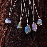 Real Ethiopian Opal Rough Crystals Pendant...