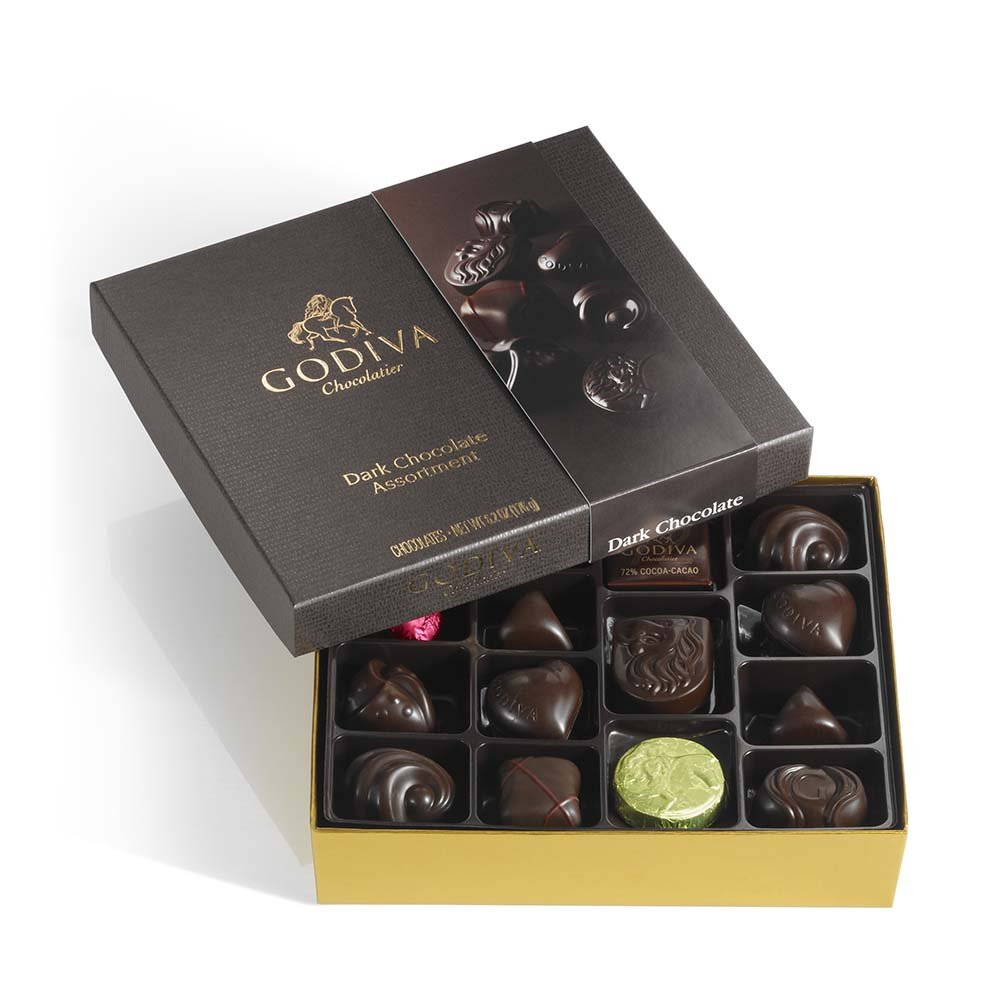 Courier shipping free GODIVA Chocolatier Online limited product Dark Gift Box Chocolate
