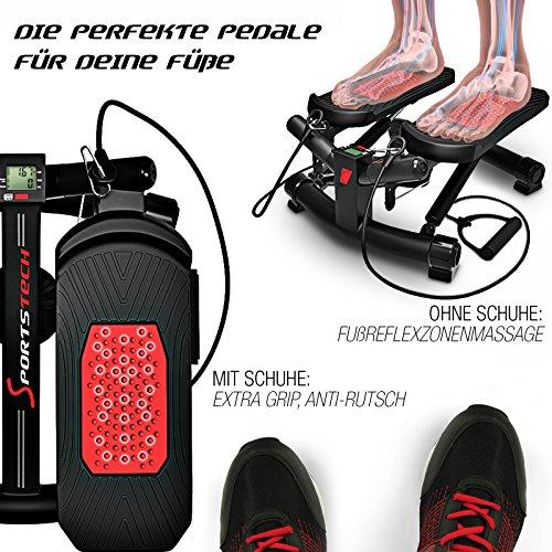 Sportstech 2in1 Twister Stepper mit Power Ropes – STX300 Drehstepper & Sidestepper für Anfänger & Fortgeschrittene - 5