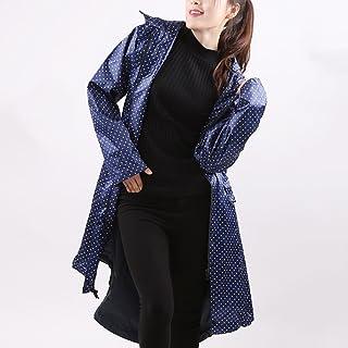 XRXY ファッション女性のウインドブレーカーレインコート/女性大人の自己栽培長いセクションレインコート/ポータブル厚みの不浸透性のポンチョ(6色があります) ( 色 : D , サイズ さいず : Xl xl )