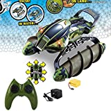 Mogicry RC Terrain Twister Boat 4WD 2.4G Remote Control Tank Vehicle 8 Channels Amphibious All Terrain Landing Ship Children's Large Waterway Charging Wireless Remote Control Ship Boy Girl Gift
