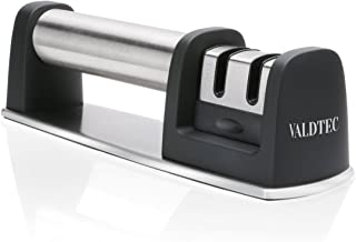 Professional Knife Sharpener for Straight and Serrated Knives, 2 Stage Diamond Coated Sharpening Wheel System By iGearPro VALDTEC 2018 New