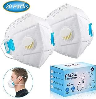 使い捨て マスク ふつうサイズ 個包装 20枚入 排気弁付き 立体 頭掛け PM2.5対応