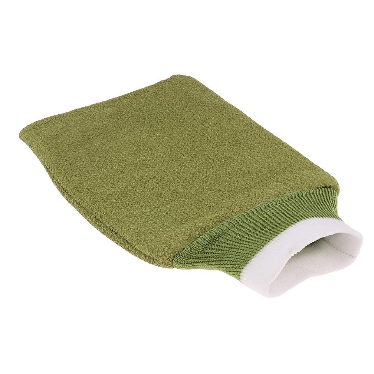 干し草確認する耕すFenteer 全3色 浴用手袋 スパ泡風呂手袋 シャワーブラシ 泡立ち 毛穴清潔 角質除去 バス 洗える 男女兼用 - 緑