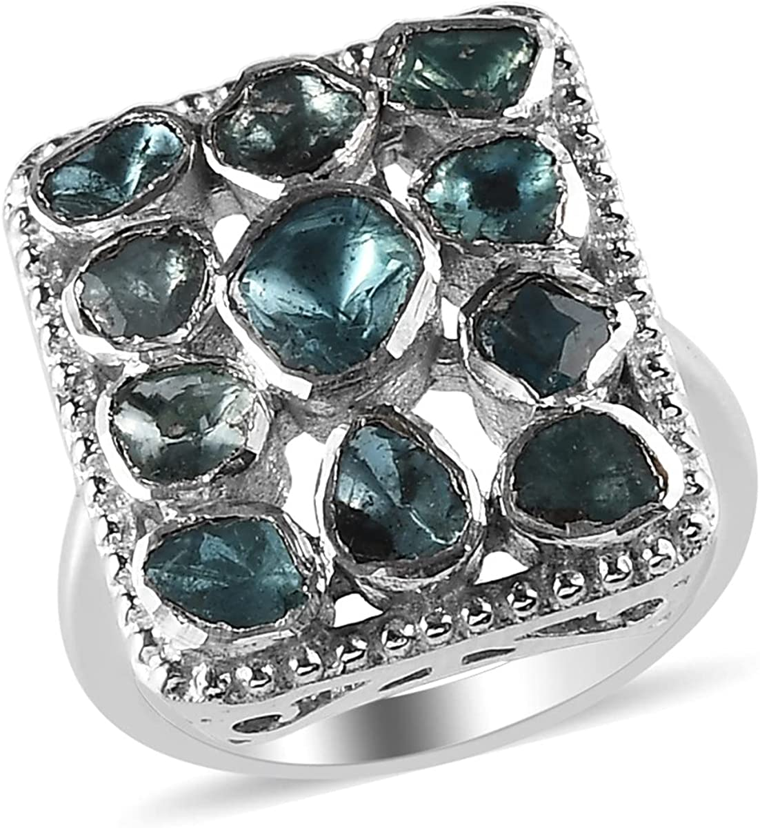 New product!! Shop LC 925 Sterling Silver Diamond Cluster Plated Indefinitely Platinum Ring
