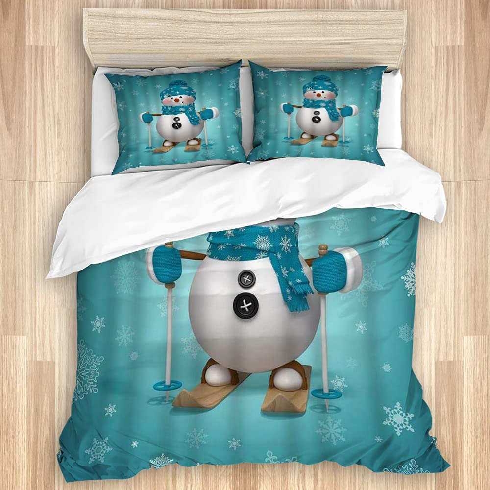 LONSANT Washed Cotton Duvet Max 46% OFF Cover Snowflake Set Snow Christmas C Ranking integrated 1st place