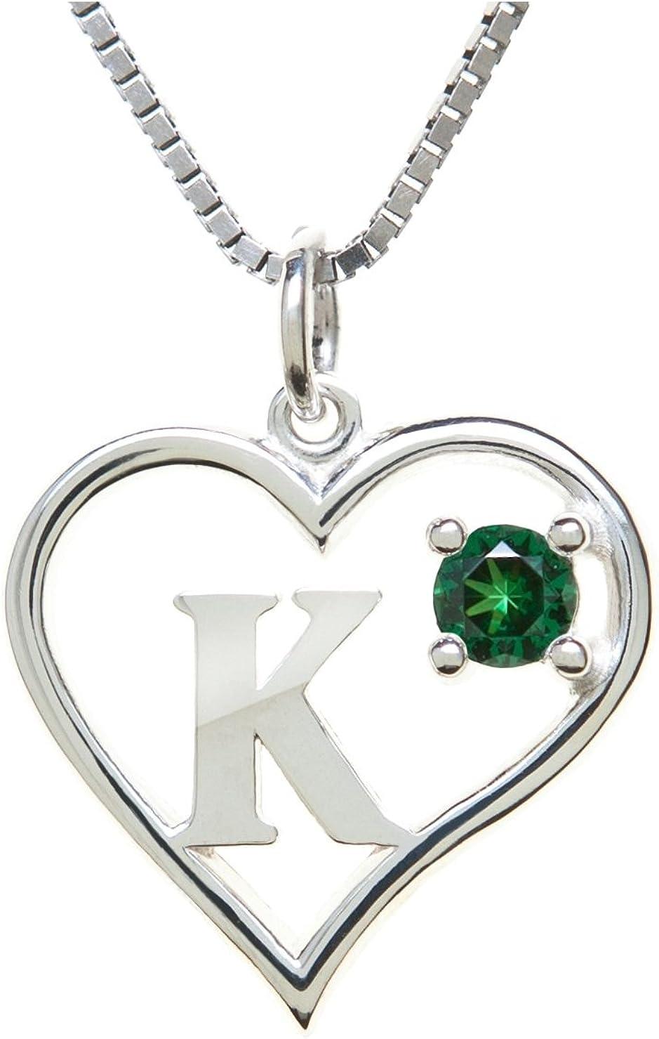 Sterling Silver trend rank Pendant Tulsa Mall K Heart Letter