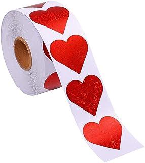 Hjärta form klistermärken 500pcs Glitter hjärtaklistermärkear, Hjärtform papper klistermärken Sparkle Heart Stickers Heart...