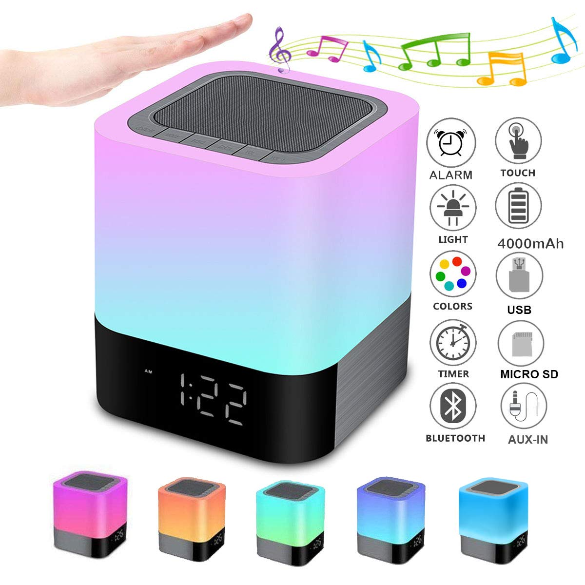 Bluetooth Speaker Dimmable Multi Color Changing