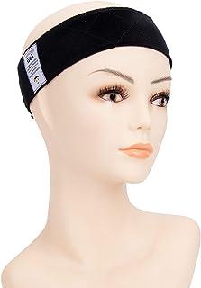 GEX Beauty Flexible Velvet Wig Grip Wig Band Scarf Head Hair Band Adjustable Fastern(Black)