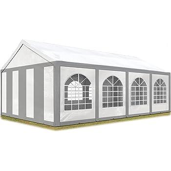 : DEGAMO Partyzelt Pavillon Festzelt 4x8m, Planen