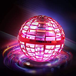 Flying ball toy [2021 upgrade] Globe Shape Magic Controller mini flying toy, built-in RGB light rotator 360° rotation, sui...