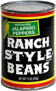 Ranch Style Beans with Sliced Jalapeno Peppers 15oz Can (Pack of 12)