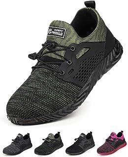 TQGOLD Chaussure de Securité Homme Femmes Embout Acier Protection Chaussures de Travai et Respirantes avec Embout Légères ...