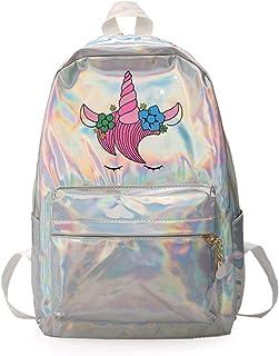 Dorothydon Special Flower Backpack Women Girl Laser Backpack Shoulder Bag Teenager Schoolbag Large Travel Backpack Rucksack