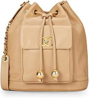 c2d94f851999 CHANEL Beige Caviar Bucket Bag Large (Pre-Owned)