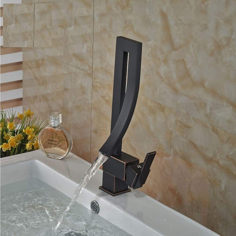 Knncch l Eingerieben Bronze Bad Und Kitchenm Waschbecken Wasserhahn Einhand-Waschtischmischer Wasserhahn Heie Und Kalte Mischbatterie Wasserhahn
