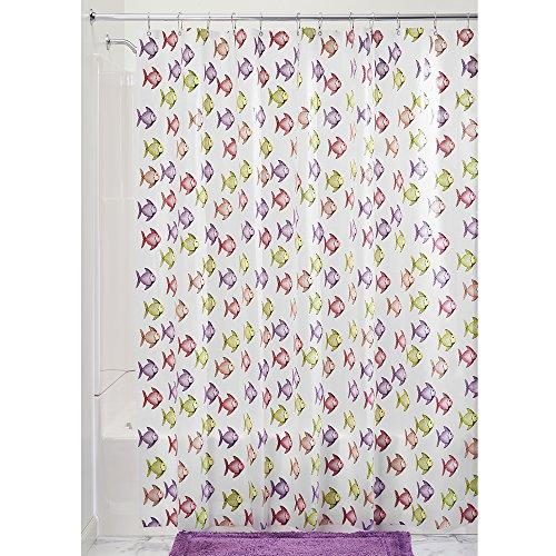 InterDesign Frogs Shower Curtain- PVC Free
