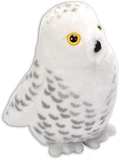 Wild Republic Audubon Birds Snowy Owl with Authentic Bird Sound, Stuffed Animal, Bird Toys for Kids & Birders