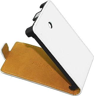 ebestStar - Funda Compatible con LG Optimus L3 E400 Carcasa Ventana Vista Cover Cuero PU, Funda Libro Billetera, Blanco [Aparato: 102.6 x 61.6 x 11.9mm, 4.3'']