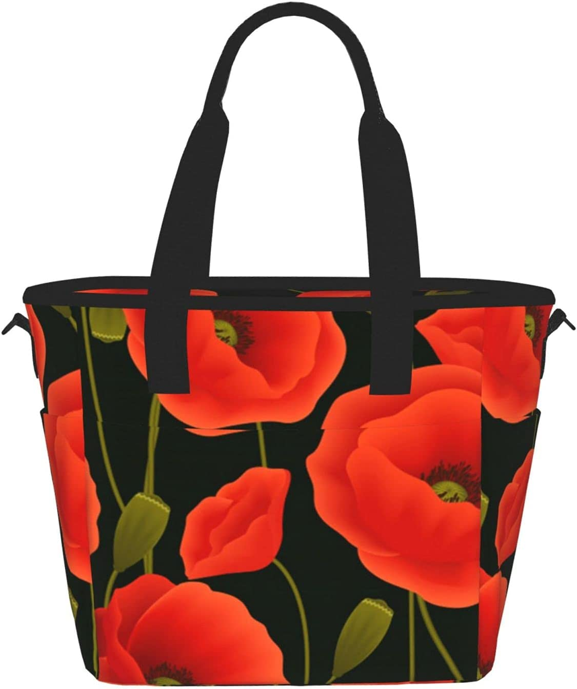 Minneapolis Mall Poppy Flowersprinting Women'S Lunch Bag Meal Fixed price for sale Fashion Portable Ba