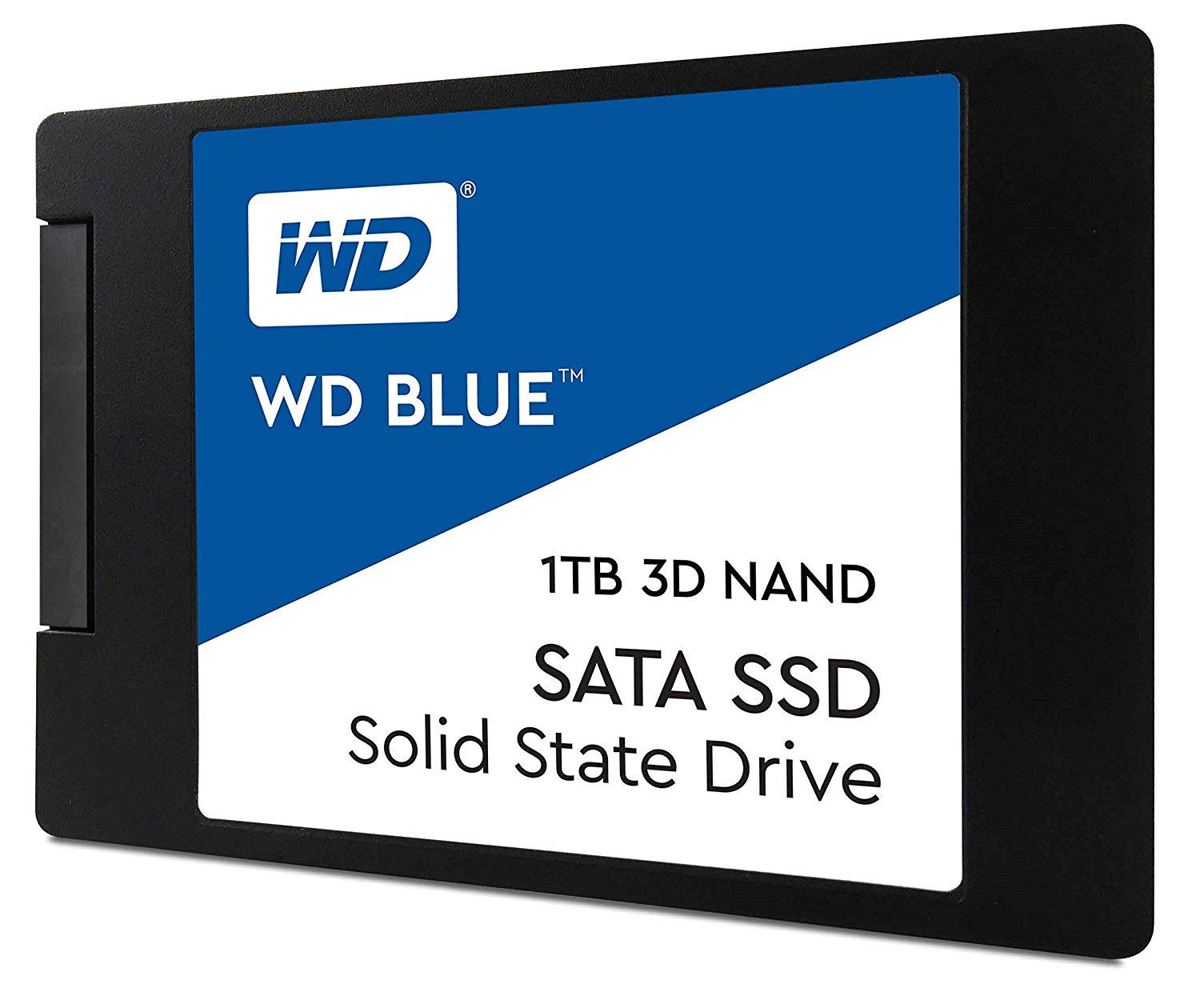 WD 블루 3D NAND 1TB PC SSD Western Digital WD Blue 3D NAND 1TB PC SSD - SATA III 6 Gb/s, 2.5/7mm - WDS100T2B0A