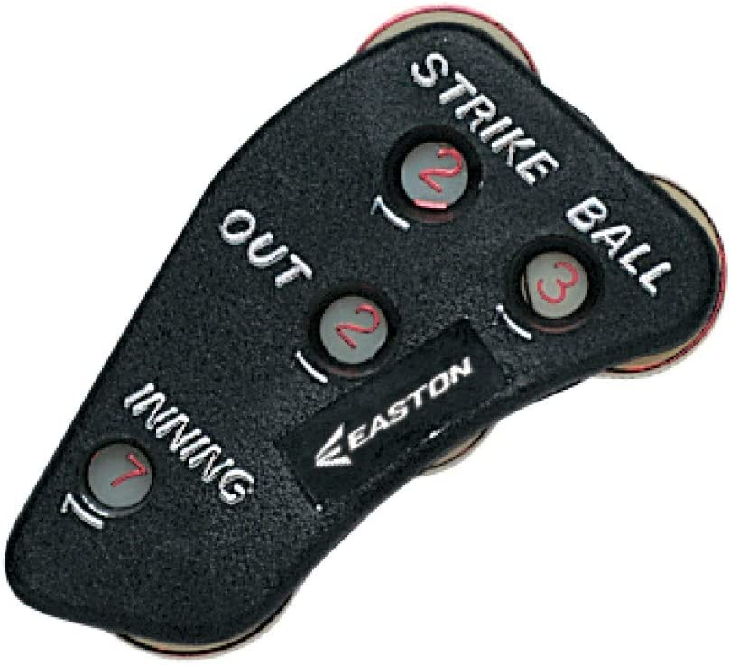 EASTON ULTIMATE Umpire Indicator, Ergonomic Hand Design For Comfort Into Extra Innings, Tracks Strikes, Balls, Outs and Innings, Does Not Track Ejections , Black