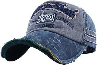Vankerful Washed Cotton Baseball Caps Adjustable Snapback Embroidered Trucker Hat