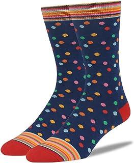 Mens Fashion Socks,SUTTOS Men's Women's Elite Casual Fun Patterned Mid Calf Crew Dress Socks,2 Pairs