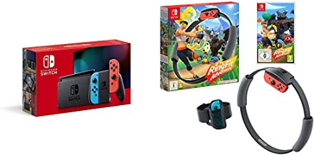 Nintendo Switch (Neon Red/Neon blue) + Ring Fit Adventure