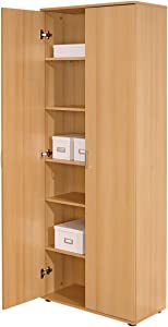 Interlink Vetra Multipurpose Cabinet 2-Doors, Beech Colour
