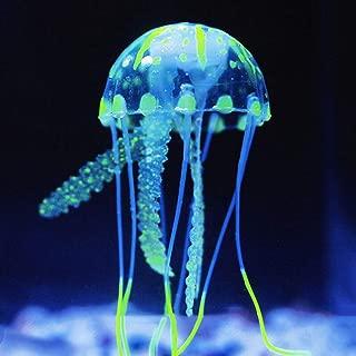 Nesee Mini Glowing Effect Artificial Jellyfish for Fish Tank Decorative Aquarium Ornament