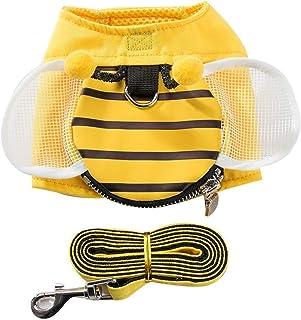 Perro lindo de la abeja forma de perro chaleco del perro correa de perro correa de perro de perro del correo paseo correa ...