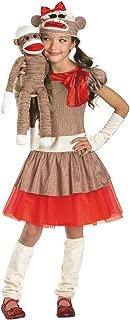 Sock Monkey Girl Child Costume - Large