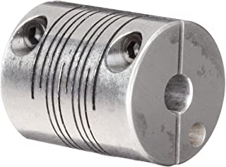 1//4 Bore B Diameter Polished Aluminum Ruland FCR12-4-4-A Clamping Beam Coupling 26 lb-in Nominal Torque Inch 3//4 OD 1//4 Bore A Diameter 1-1//4 Length