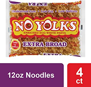 No Yolks Extra Broad Egg Noodle, 12-Ounce (Pack of 4)