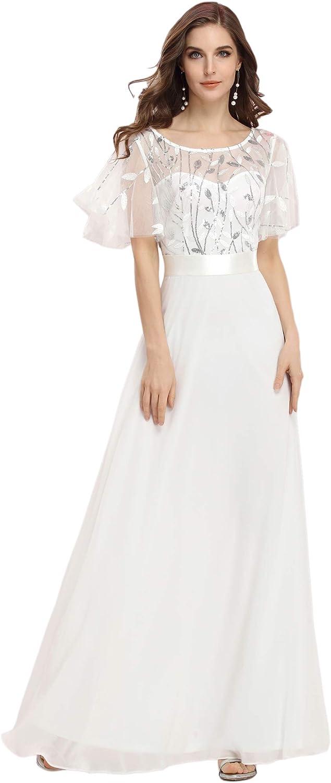Ever-Pretty Women's Embroidery Maxi Party Dress Chiffon Evening Dress 0691